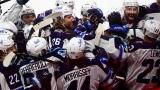 Les Jets de Winnipeg célèbrent